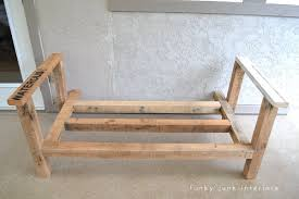Make Wood Patio Furniture by How I Built The Pallet Wood Sofa Part 2 Funky Junk Interiors