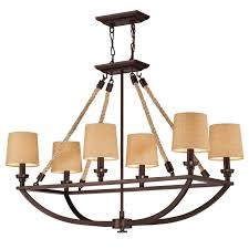Bronze Chandelier With Shades Boathouse Nautical Chandelier With Shade Shades Of Light