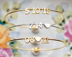 silver gold bracelet bangle images Date bangle bracelet valentine 39 s gift date bracelet jpg