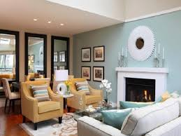 drawing room color scheme round nightstand blue sofa color white