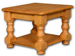 Pine Side Table Blenheim Pine Square Coffee Table