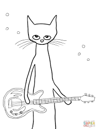 pete the cat coloring page shoes printable pages 11494 in