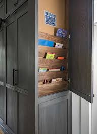 kitchen cabinet end ideas kitchen cabinet end panel with custom shelves transitional