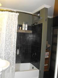 shower curtain ideas for small bathrooms white bath up feat black wall also white curtains on the golden