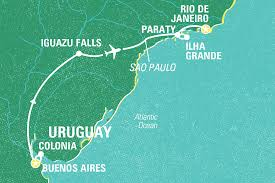 Map Of Rio De Janeiro Buenos Aires To Rio Journey Argentina Tours Geckos Adventures Nz