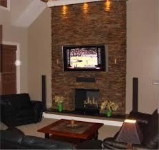 corner stone fireplace with tv above wpyninfo