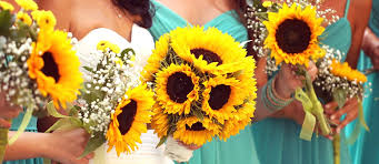 sunflower wedding brilliant sunflower wedding bouquets for happy wedding