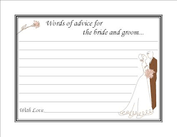 bridal shower words of wisdom items similar to couples bridal shower advice cards on etsy