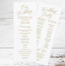 create wedding programs gold wedding programs wedding program template rustic wedding