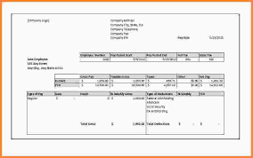 10 printable pay stub template free samples of paystubs