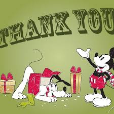 christmas thank you cards mickey pluto christmas thank you card disney family