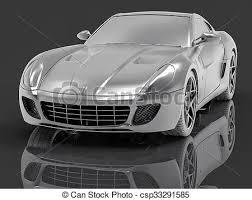 si e auto sport black auto sport silber 3d macht concept auto luxus stock