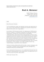 Example For Resume Cover Letter by Child Care Cover Letter For Resume Http Www Resumecareer Info