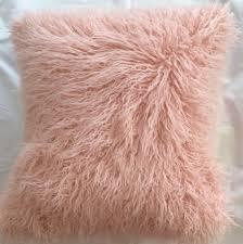 light pink fur blanket bed pillow light blue fuzzy pillow faux white fur pillow beige
