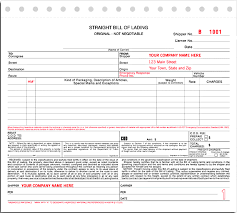 bill of lading template real estate forms