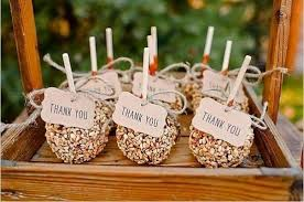 caramel apple party favors sweet candy wedding favor ideas mywedding