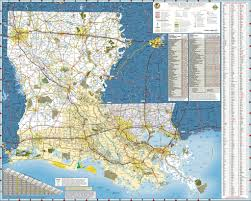 Map Of Louisiana Parishes by Louisiana State Highway Map Maplets