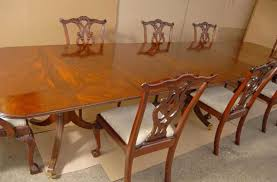 sedie chippendale regency tavolo da pranzo set sedie chippendale suite ebay