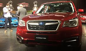 subaru forester red 2017 vw golf alltrack subaru forester named 2017 canadian car utility