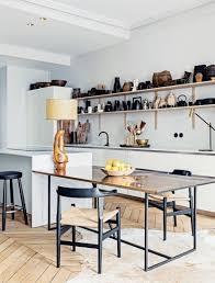 cuisine table ilot cuisine avec table
