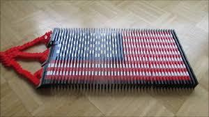 Big American Flags Big Project 3 American Flag 500 Dominoes Youtube