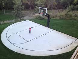Backyard Basketball Hoops Home Decor Amazing Backyard Basketball Court Backyard