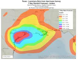 Map Of Texas And Louisiana by Texas U2013 Louisiana Coast Rainfall From Hurricane Harvey