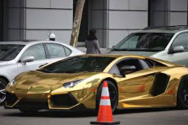 expensive cars gold lamborghini san francisco citizen