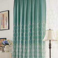 american country gauze embroidered linen luxury curtains for
