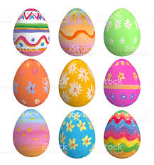 painted easter eggs set of painted easter eggs stock photo 164190558 istock
