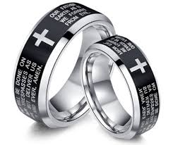 wedding rings cross images Cross wedding bands for men and women couple gifts set in two tone jpg