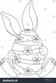 easter egg coloring page stock vector 368215016 shutterstock