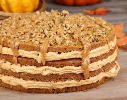 oregonian thanksgiving spiced layer cake with pumpkin frosting