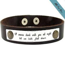 mens personalized bracelet quote engraved bracelet for men personalized leather cuff