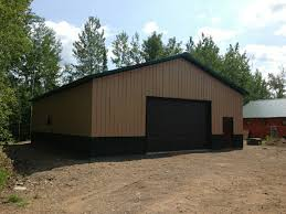 The Pole Barn Pole Barn Garage On Whiteface Reservoir U2013 Knutson Custom Construction