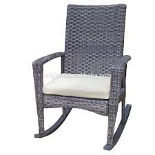Cheap Outdoor Rocking Chairs Waterproof Synthetic Rattan Woven Home Porch Furniture Tea Table