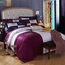 hotel style bedding amethyst purple and white girls rugby stripe
