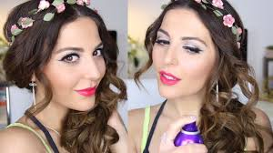 prom makeup hair tutorial collab with luxy hair you