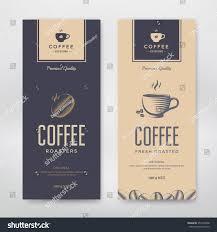 packaging design coffee packaging design vector template package stock vector