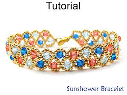 free crystal bracelet images Beading tutorial pattern bracelet jewelry making crystal