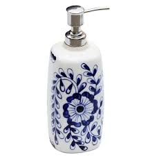 blue blooms blue and white ceramic liquid soap lotion