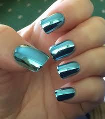 blue chrome nails more nails pinterest chrome nails nail