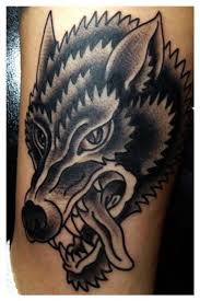 traditional wolf cerca con patch inspiration