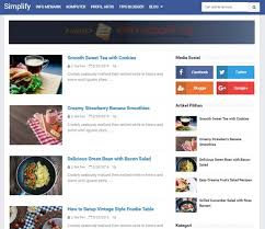 simplify 2 blogger template download