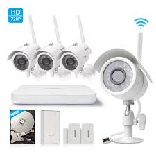 Interior Home Surveillance Cameras by Zmodo All In One Wireless Outdoor Indoor Smart Home Security