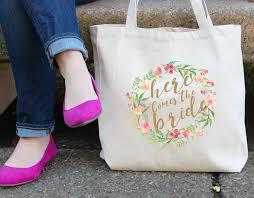 bridal party tote bags millie bridal party tote bag custom bridesmaid tote shine