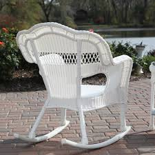 Wicker Rocking Chairs For Porch Sahara All Weather Wicker Rocking Chair Hayneedle