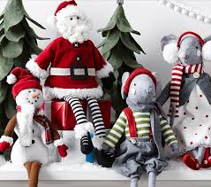 Christmas Decorations At Pottery Barn by Sitting Hearth Plush Decor Pottery Barn Kids