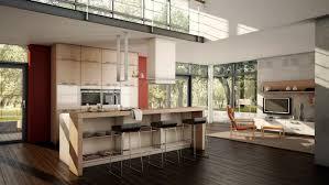 cuisine moderne ouverte sur salon cuisine ouverte sur salon en 55 idées open space superbes