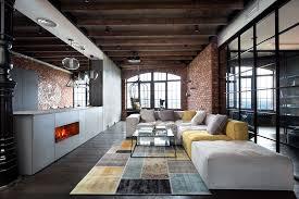 canape angle loft beau loft industriel à kiev au design intérieur résolument masculin